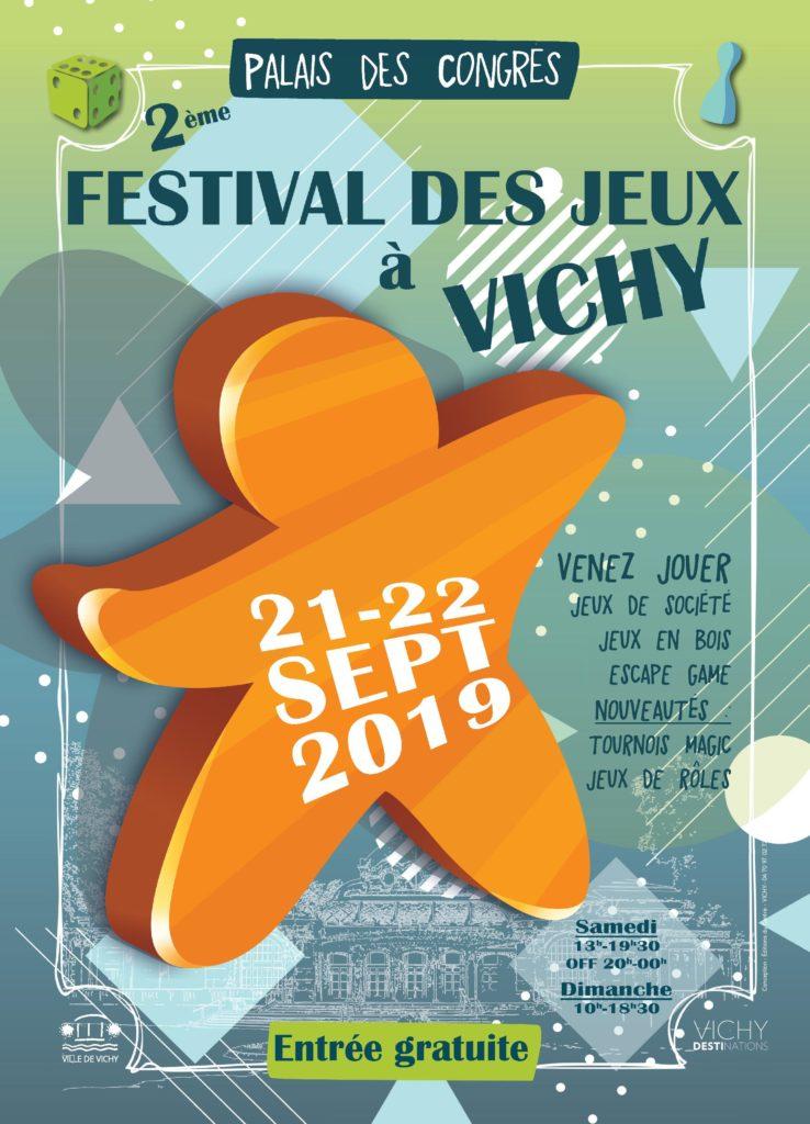 Affiche officielle du Festival des Jeux à Vichy 2019